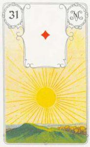 O significado da carta 31, o Sol, no Baralho Cigano