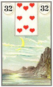 O significado da carta 32, a Lua, no Baralho Cigano