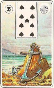 O significado da carta 35, a Âncora, no Baralho Cigano