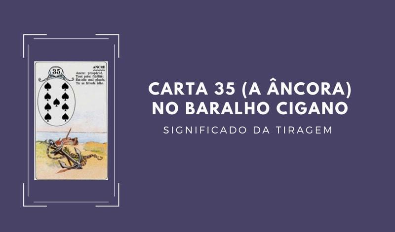 Carta 35 no Baralho Cigano, a Âncora