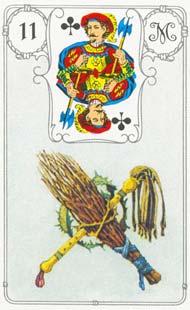 O significado da carta 11, o Chicote, no Baralho Cigano