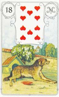 O significado da carta 18, o Cachorro, no Baralho Cigano
